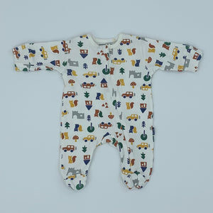 Hardly Worn Kite zip-up brownsea sleepsuit size Newborn