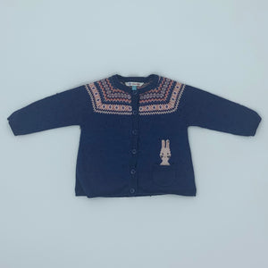 Gently Worn John Lewis bunny cardigan size 3-6 months