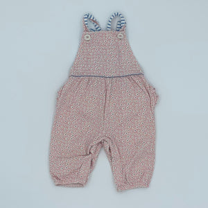 Gently Worn Boden flower dungarees size 3-6 months