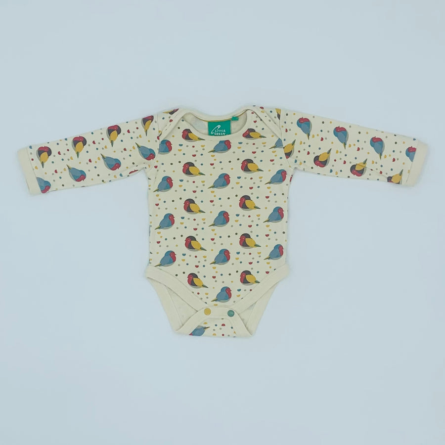 Hardly Worn Little Green Radicals red robin bodysuit size 6-9 months