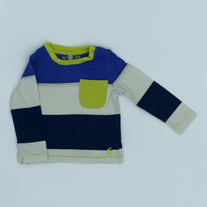 Gently Worn Joules striped pocket top size 9-12 months