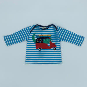 Hardly Worn Frugi striped top size 0-3 months
