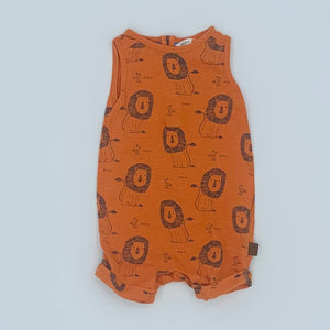 Hardly Worn John Lewis orange lion shortie size 3-6 months