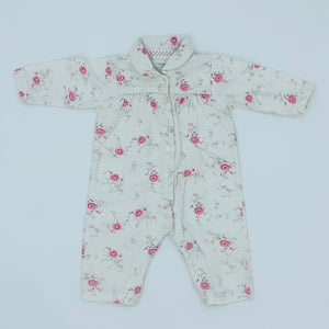 Gently Worn The White Company flower romper size 6-9 months