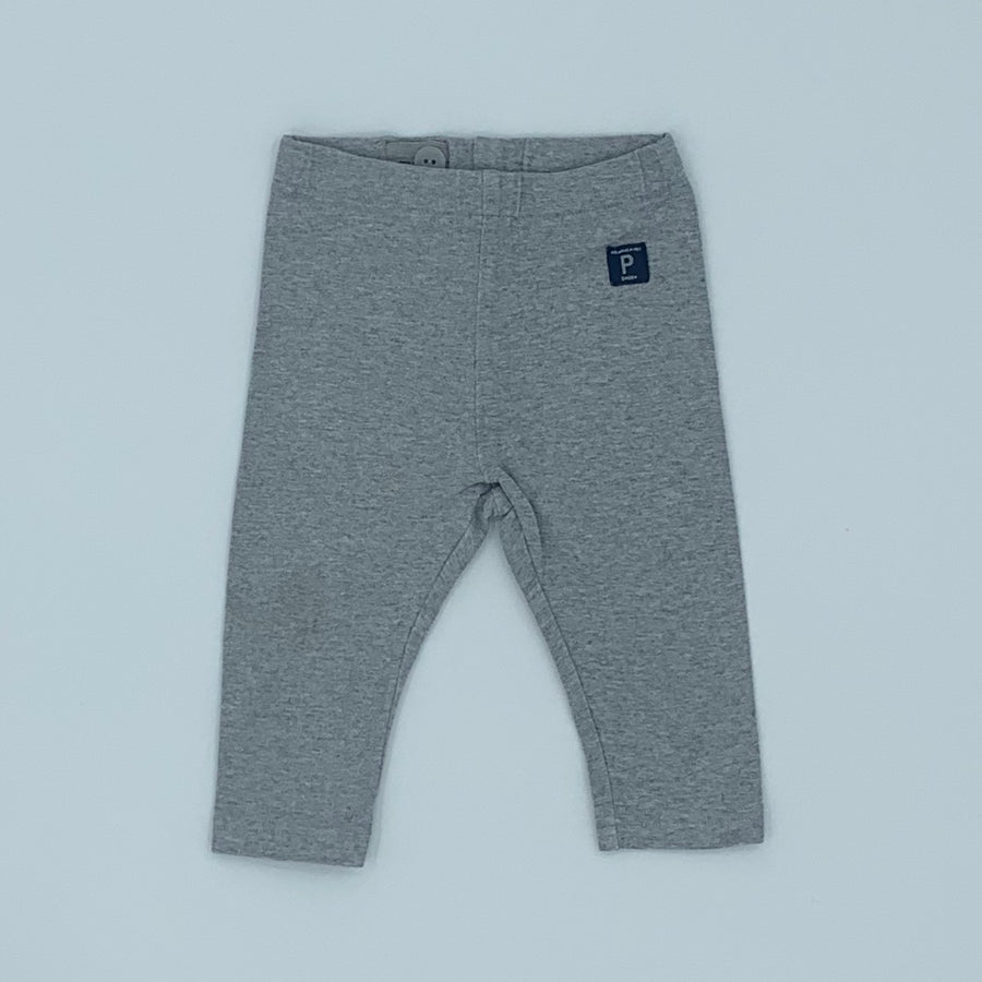 Gently Worn Polarn O Pyret grey leggings size 6-9 months