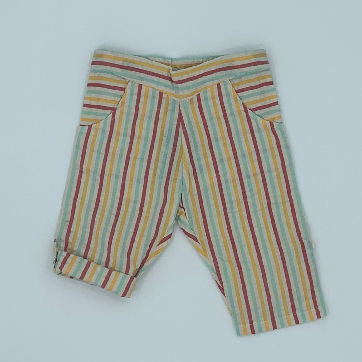 New Little Green Radicals rainbow stripe beach bottom size 9-12 months