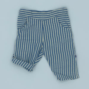 Gently Worn Little Green Radicals blue stripe beach bottom size 6-9 months