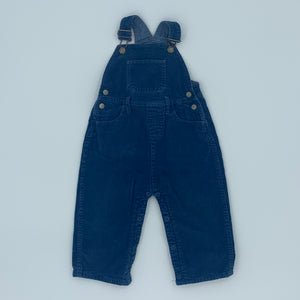 Hardly Worn Boden blue cord dungarees size 18-24 months