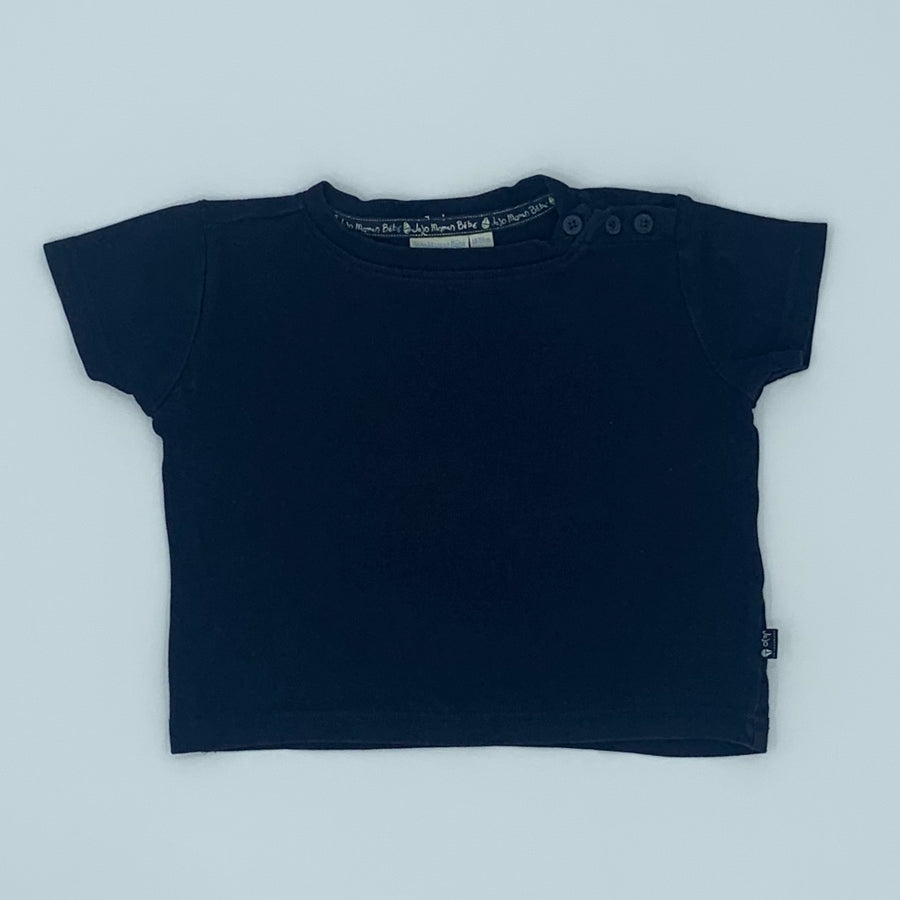 Gently Worn Jojo Maman Bebe navy box t-shirt size 18-24 months