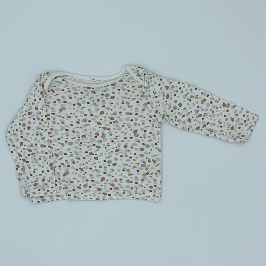 Gently Worn Baby Mori white pebble top size 6-9 months