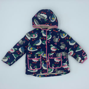 Gently Worn Boden duck hooded jacket size 3-4 years