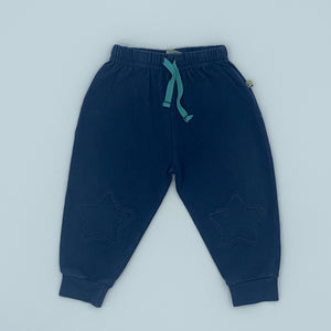 Gently Worn Frugi navy star joggers size 6-12 months