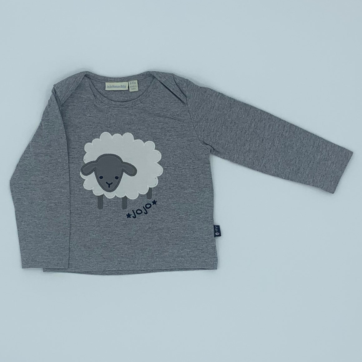 Gently Worn Jojo Maman Bebe sheep top size 6-12 months