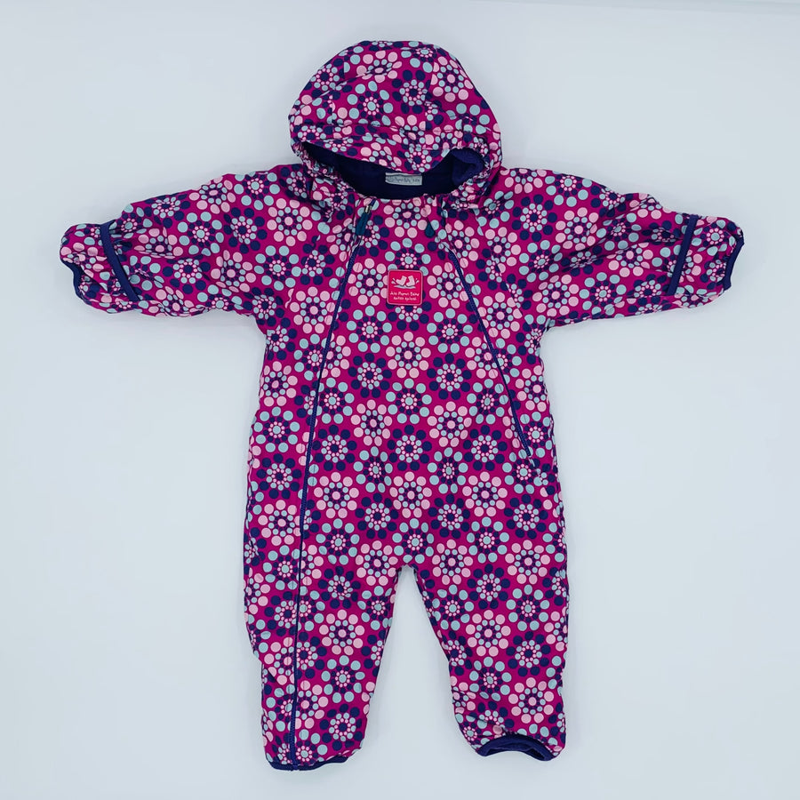 Hardly Worn Jojo Maman Bebe flower waterproof pramsuit size 9-12 months