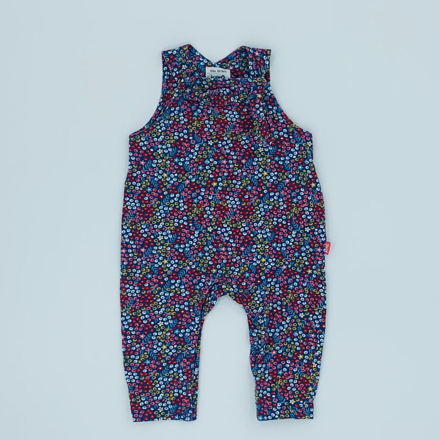 Hardly Worn Kite ditsy romper dungarees size 6-9 months