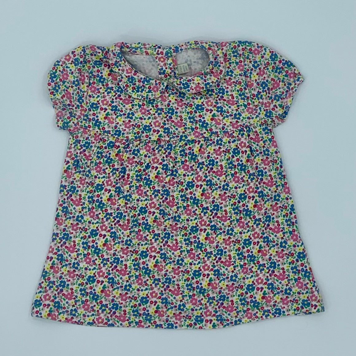 Gently Worn Jojo Maman Bebe flower polo top size 5-6 years