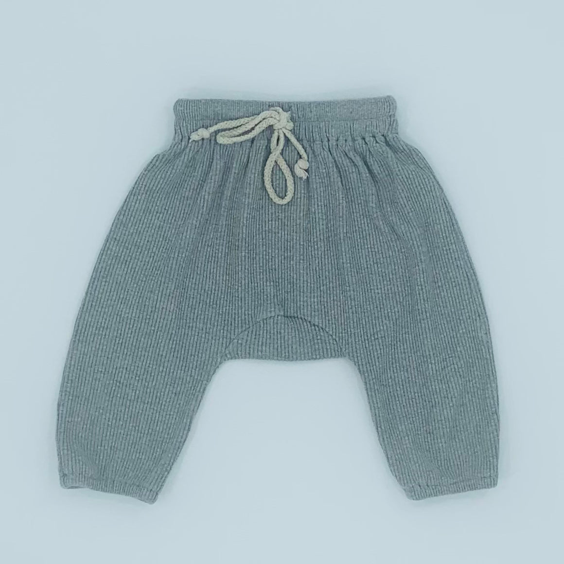 Hardly Worn Tiny Trove grey rib joggers size 2-3 years