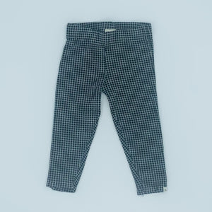 Hardly Worn Turtledove London black checked leggings size 2-3 years