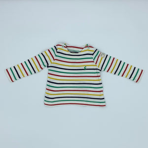 Gently Worn Joules striped top size 9-12 months