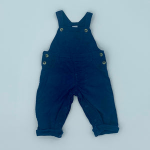 Gently Worn Waitrose blue cord dungarees size 6-9 months