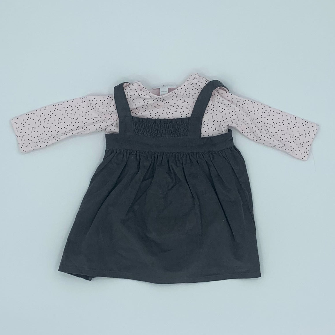 Hardly Worn The White Company cord dress set size 3-6 months