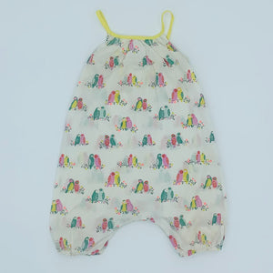 Hardly Worn Boden bird summer romper size 2-3 years