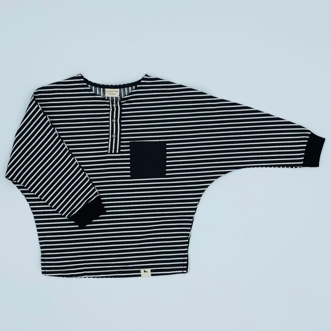 New Turtledove London black striped shirt size 2-3 years