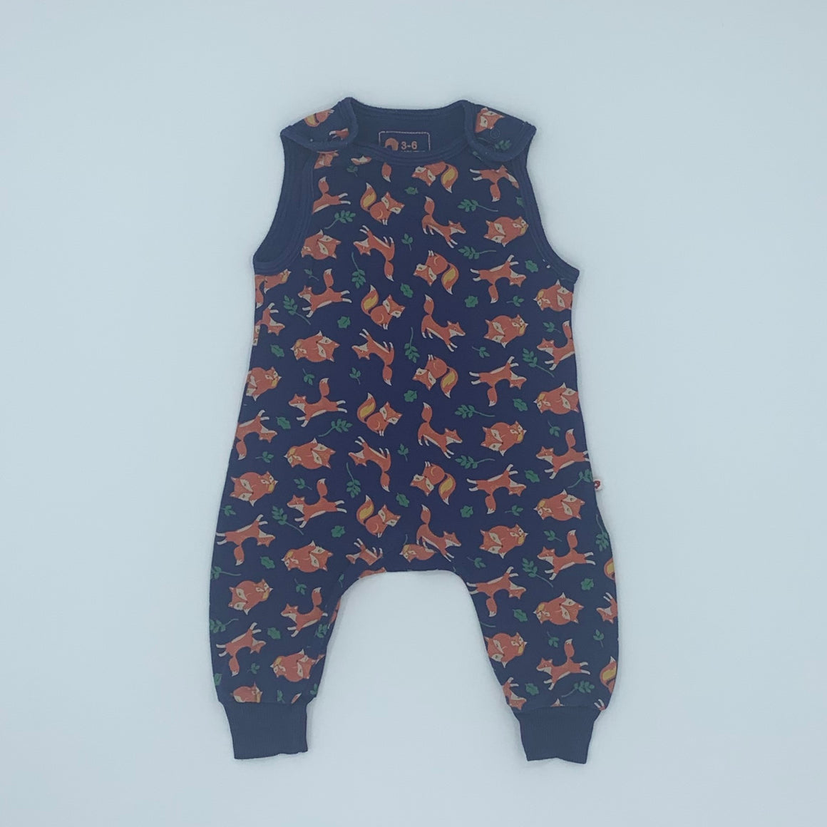 Needs TLC Picalilly fox romper dungarees size 3-6 months