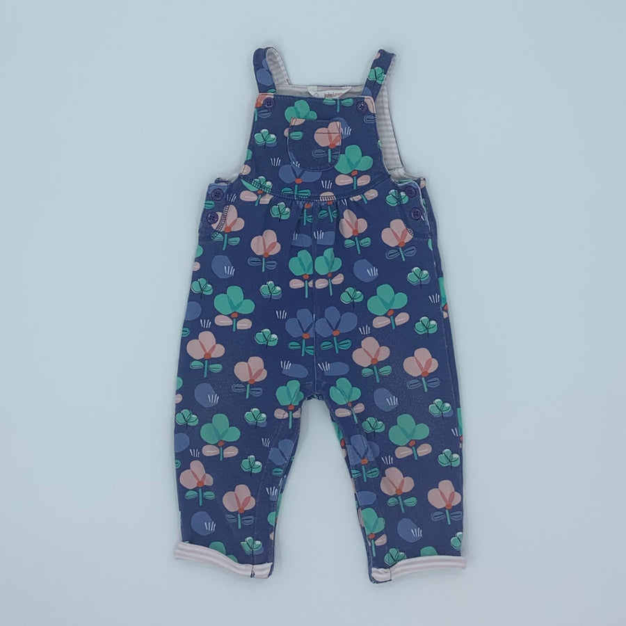 Needs TLC John Lewis flower dungarees size 6-9 months