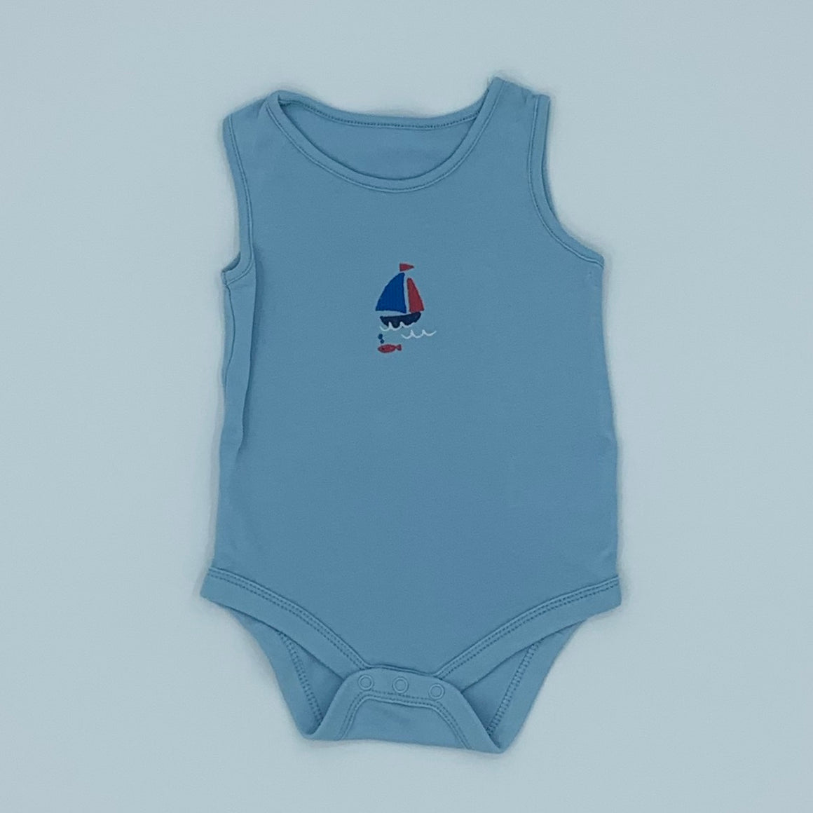 Gently Worn John Lewis boat sleeveless vest size 6-9 months