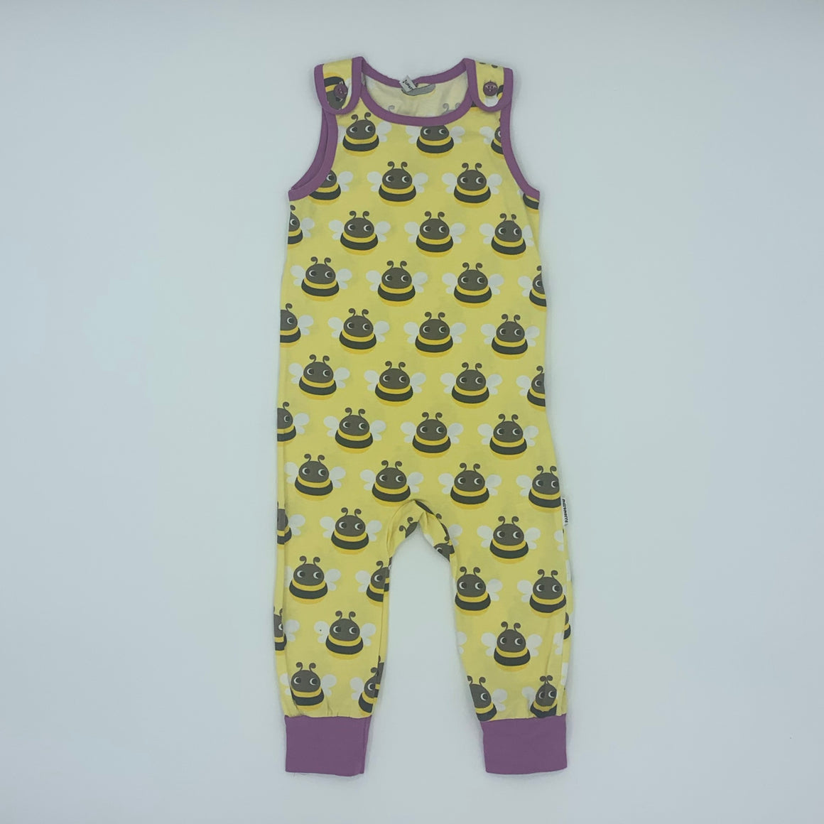 Never Worn Maxomorra bee romper dungarees size 18-24 months