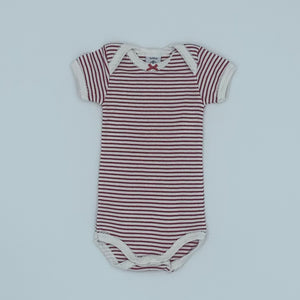 Never Worn Petit Bateau red stripe bodysuit size 0-3 months