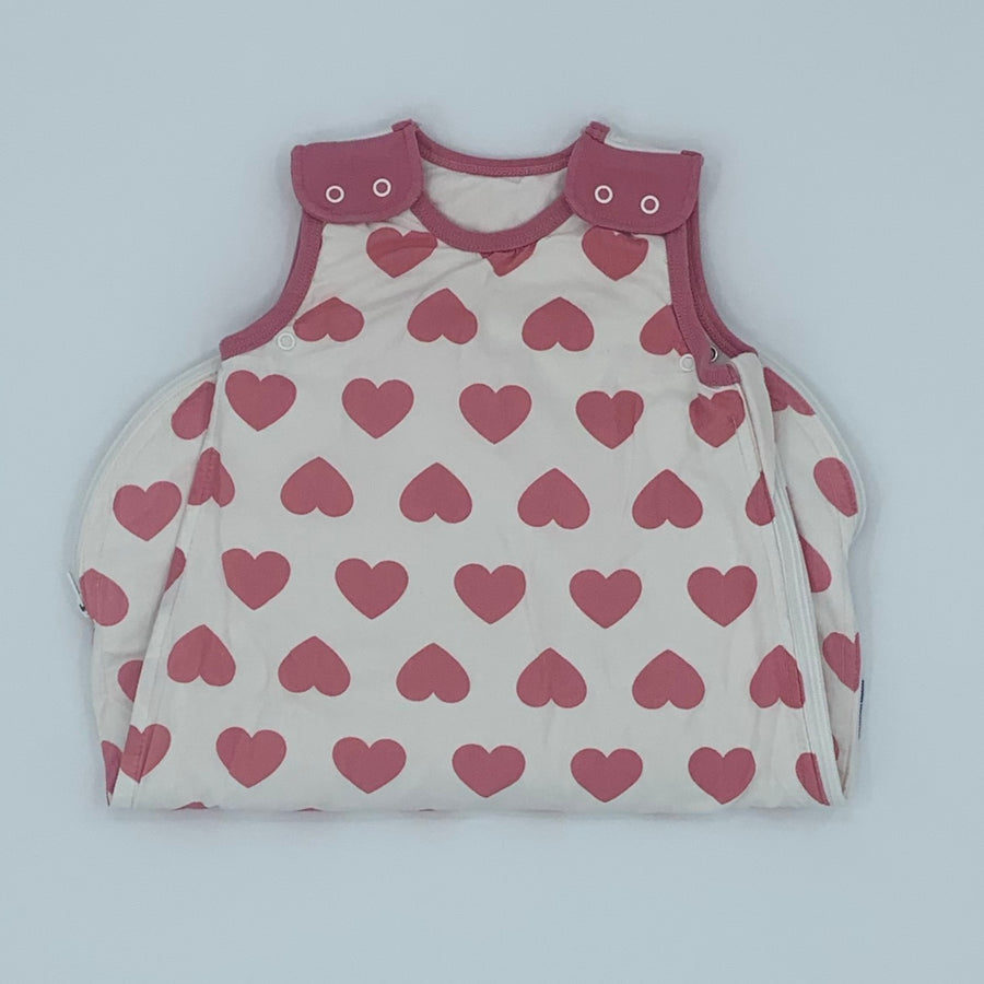 Hardly Worn Mama Designs love heart sleeping bag size 0-6 months