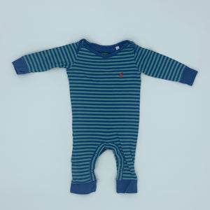 Gently Worn Joules striped romper size 3-6 months