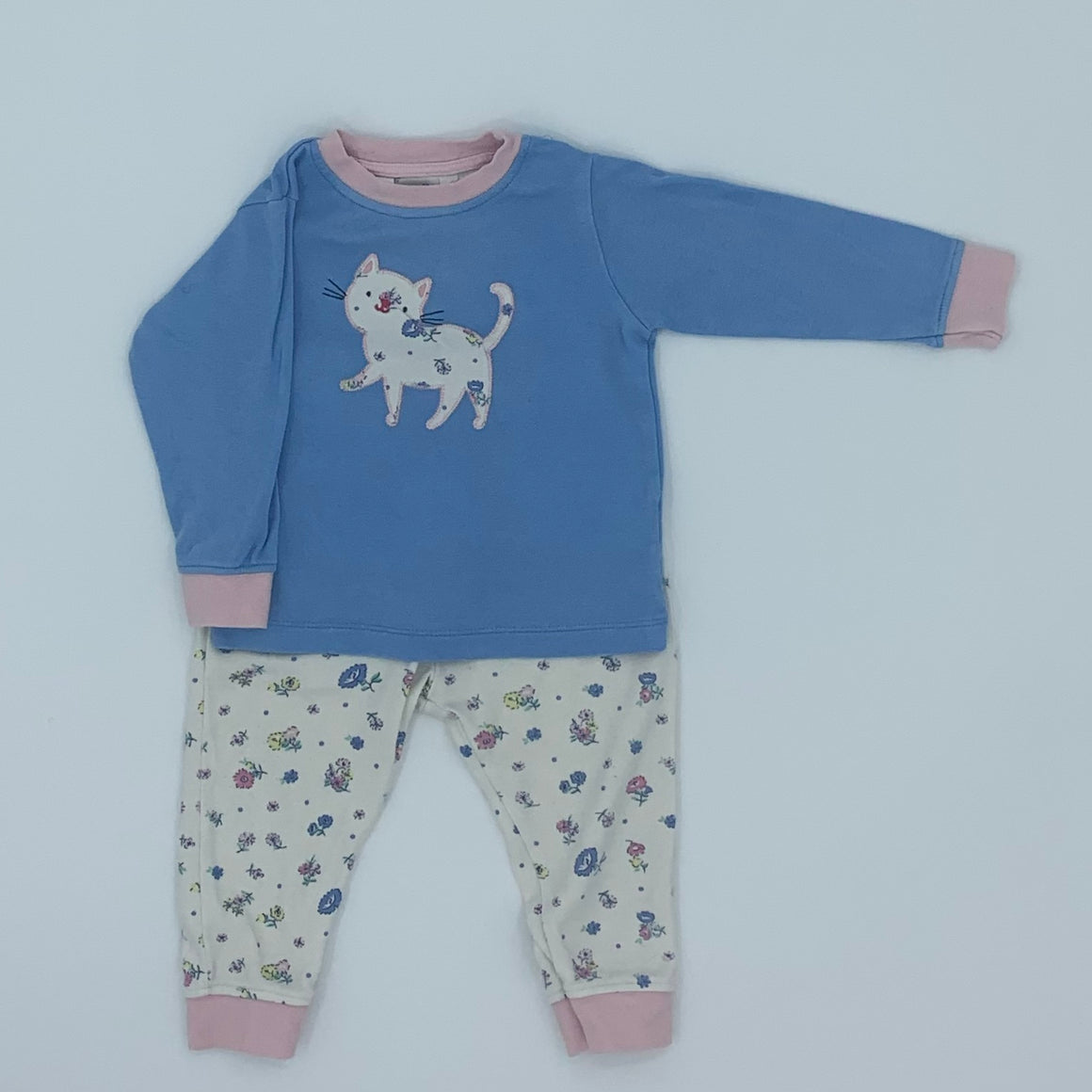 Gently Worn John Lewis cat pyjamas size 6-9 months