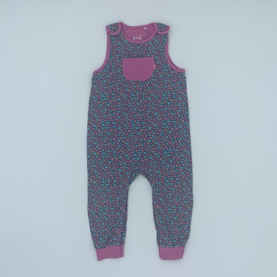 Gently Worn Kite flower romper dungarees size 12-18 months