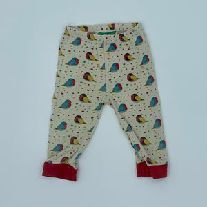 Gently Worn Little Green Radicals red robin leggings size 18-24 months