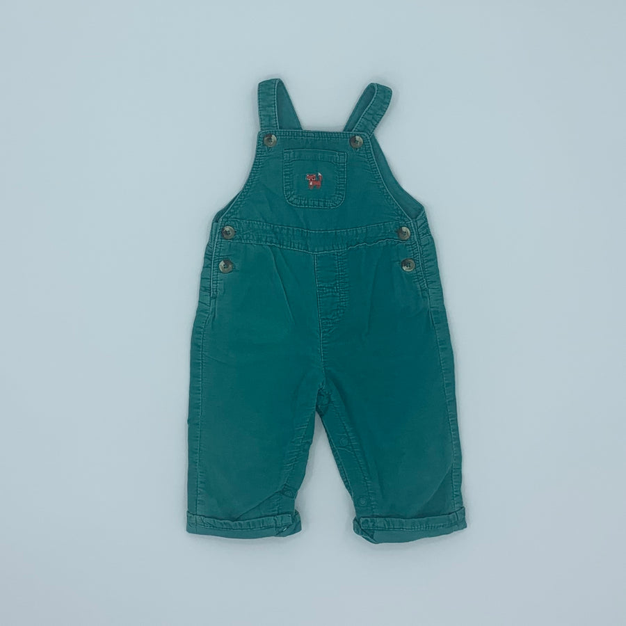 Hardly Worn John Lewis green cord dungarees size 3-6 months