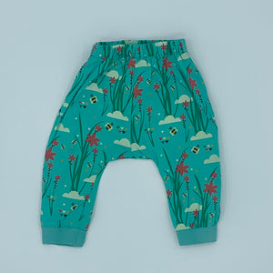 Needs TLC Little Green Radicals blue bee joggers size 6-9 months