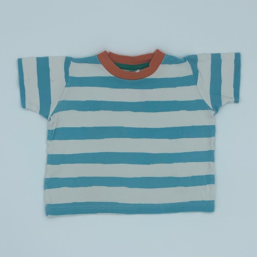 Gently Worn Boden blue striped top size 3-4 years