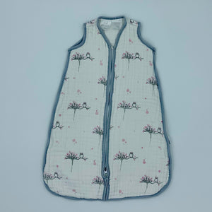 Gently Worn Aden + Anais white flower sleeping bag size 0-6 months