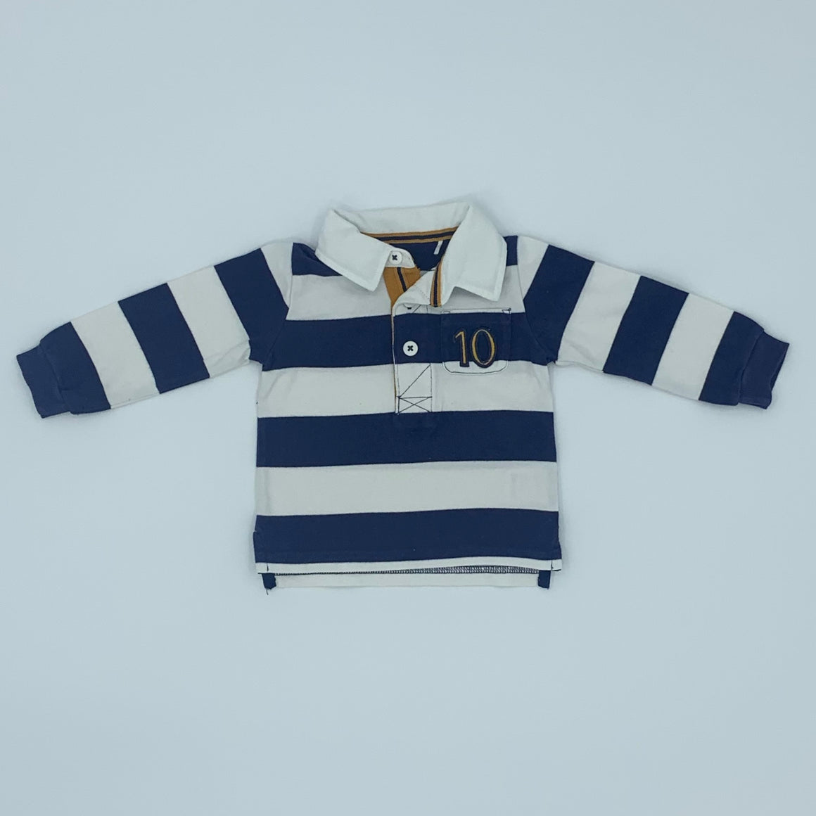 Gently Worn John Lewis rugby top size 6-9 months