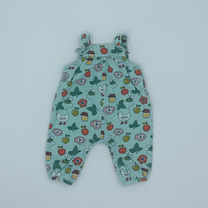 Hardly Worn John Lewis flower cord dungarees size 3-6 months