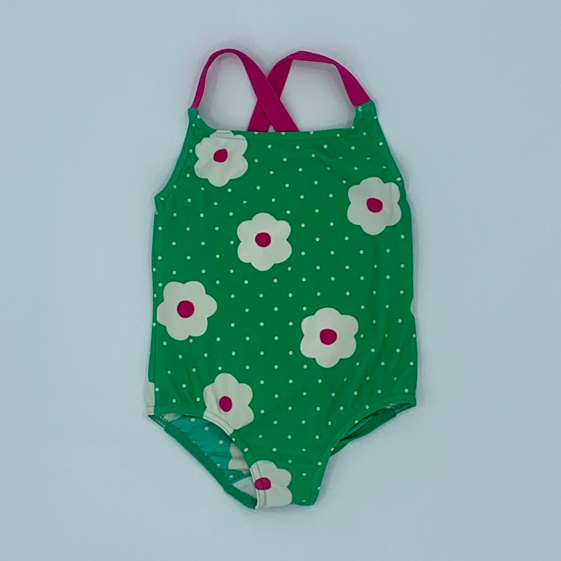 Hardly Worn Boden green swimsuit size 2-3 years