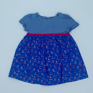 Gently Worn Jojo Maman Bebe boat two-in-one dress size 18-24 months