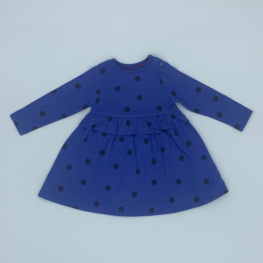 New John Lewis spotted dress size 6-9 months