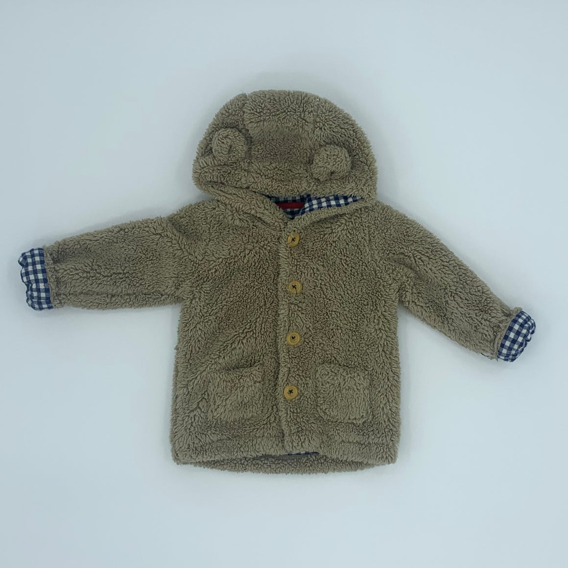 Gently Worn Boden shirring hooded jacket size 18-24 months