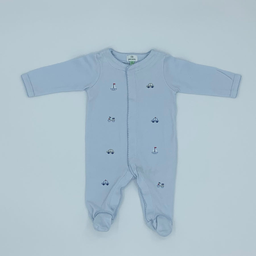 Gently Worn John Lewis boat & car sleepsuit size 0-3 months