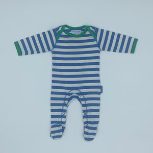 Needs TLC Toby Tiger blue striped sleepsuit size 3-6 months