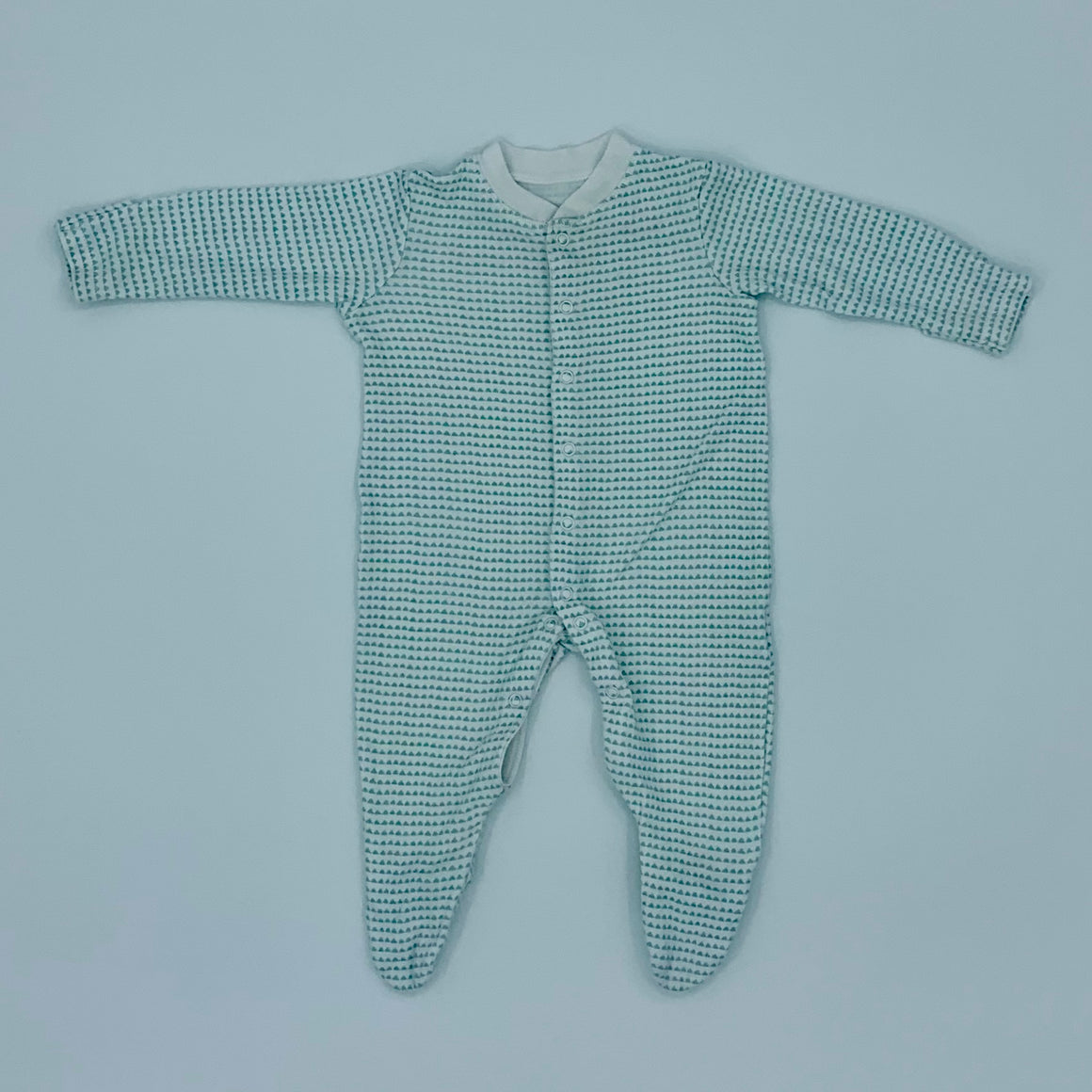 Hardly Worn John Lewis mint green sleepsuit size 3-6 months